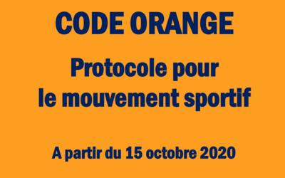 COVID-19 : Code orange, le voici en détails.