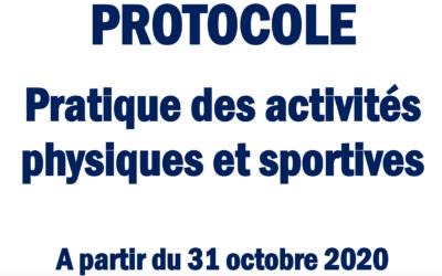 COVID-19 : Le pratique sportive complètement à l'arrêt.
