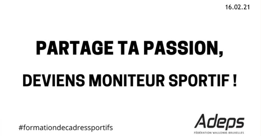 Formation des cadres – Formation moniteur sportif-initiateur reconnue par l'Adeps