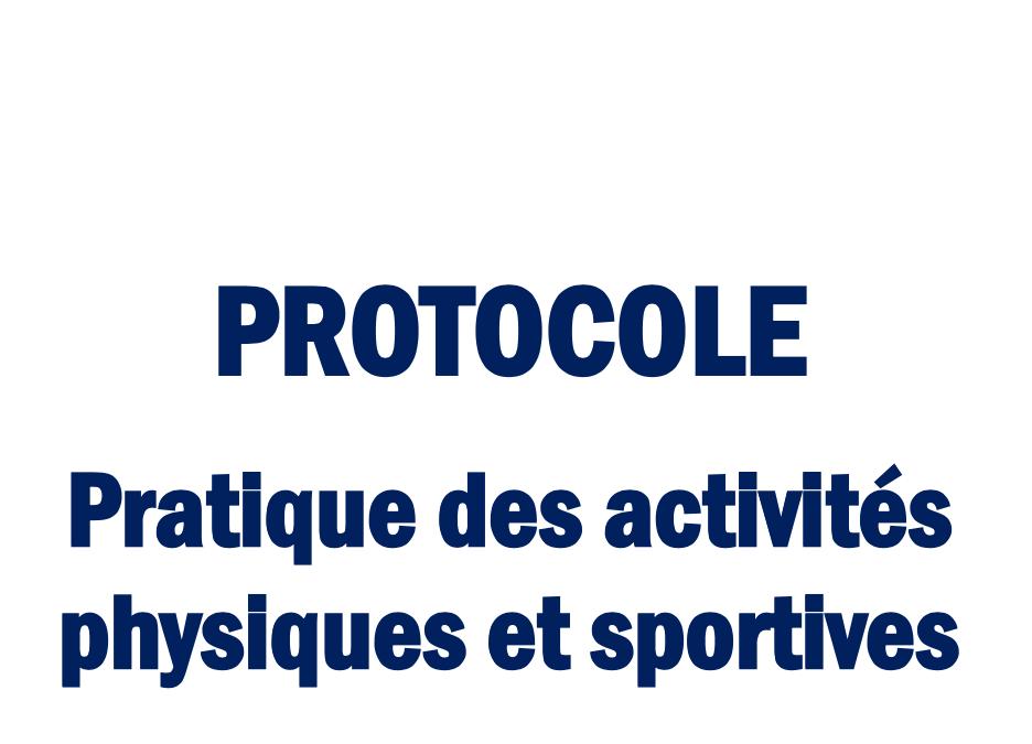 COVID-19 : Protocole mis à jour le 26.04.2021