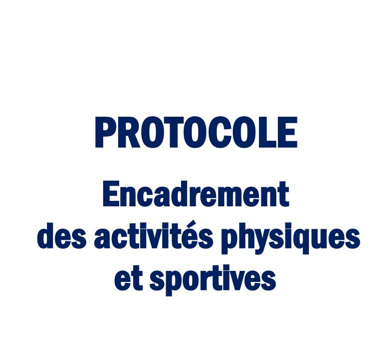 COVID-19 : Protocole – Activités physiques et sportives